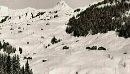 Damüls ski area in bygone days